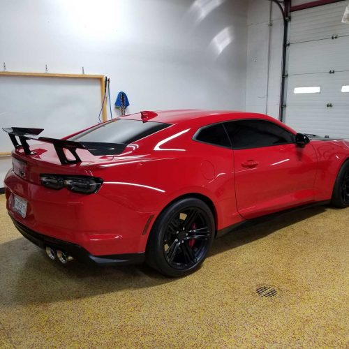 Sports car tint shop